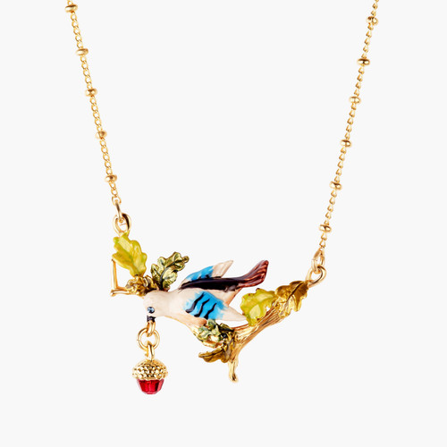Acorn And Jay Thin Necklace   AMEF3041