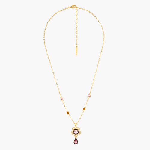 Indian Flower Pendant Necklace | AMEI3021