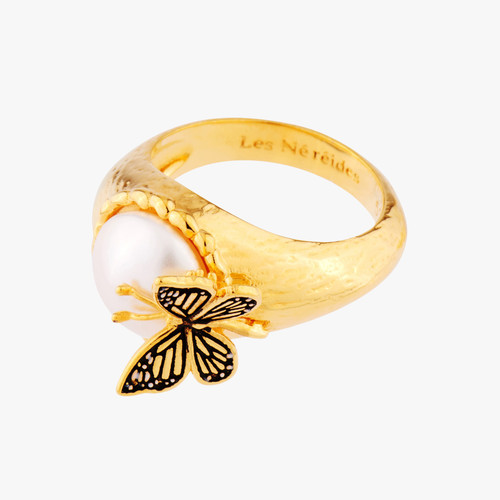 Cocktail Butterfly And Fantasy Bead Cocktail Rings | AMEN602/1