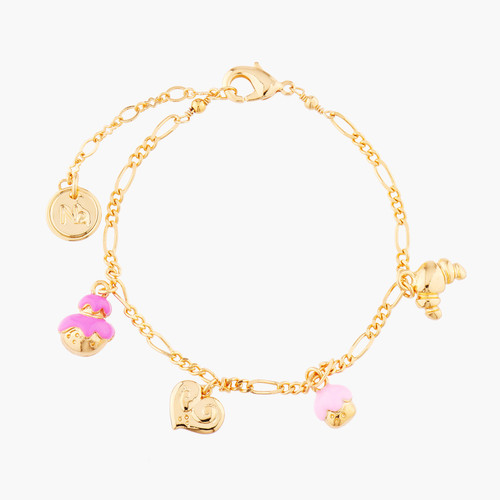 Cream Puff, Palmier, Puff Pastry And Croissant Charms Bracelet | AMFP2021