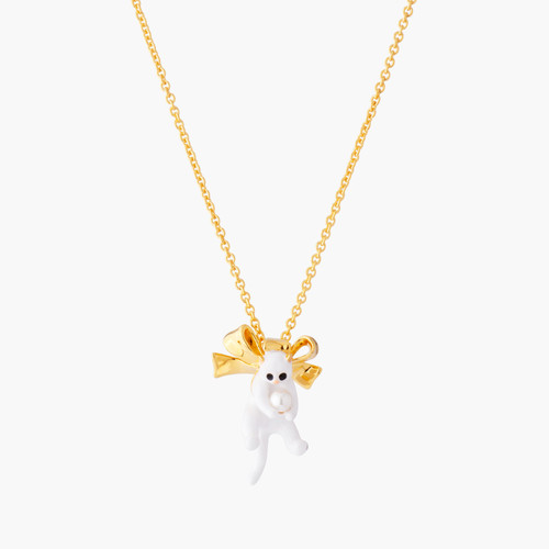 Kitty And Bow Pendant Necklace | AMLA3031
