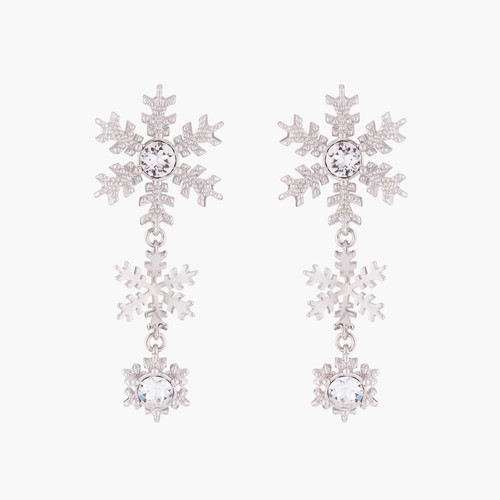 Snowflakes And Crystals Earrings | AMSC1012