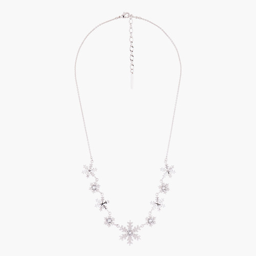 Snowflakes And Crystals Collar Necklace   AMSC3012