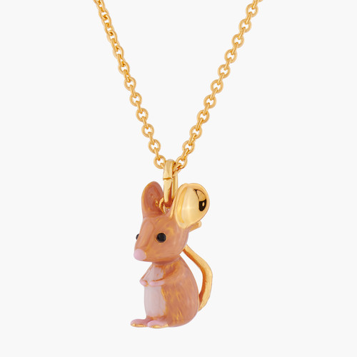 Chinese New Year Rat Pendant Thin Necklace | ALCC301