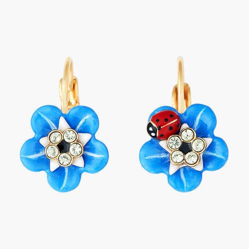 Forget-Me-Not Flower And Ladybird. Earrings | ANBM1051