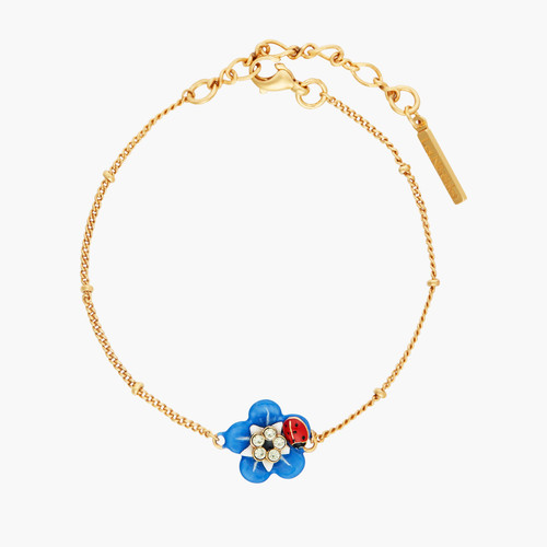 Forget-Me-Not And Little Ladybird Thin Bracelet | ANBM2031