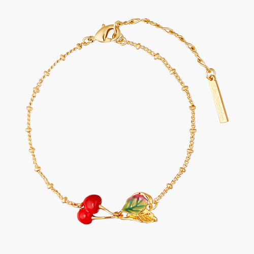 Cherries And Leave Thin Bracelet | ANCE2021