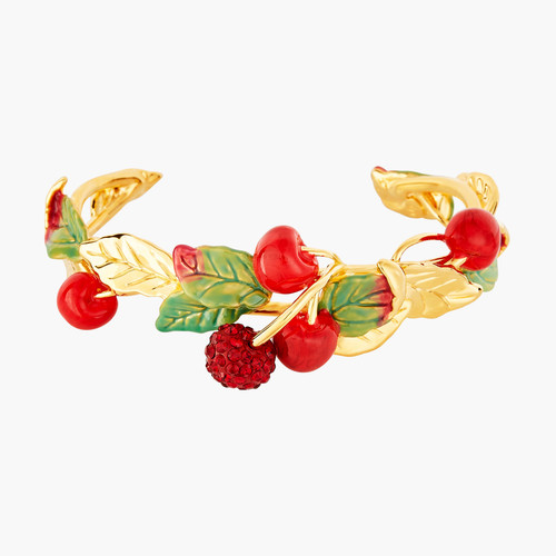 Cherries And Leaves Bangle Bracelet | ANCE2011