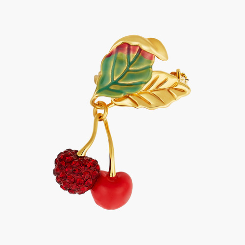 Cherries And Leaves Brooch Accessories | ANCE5011