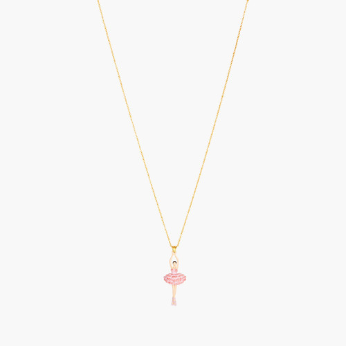 Cherry Blossom And Ballerina Pendant Necklace | ANDD3591