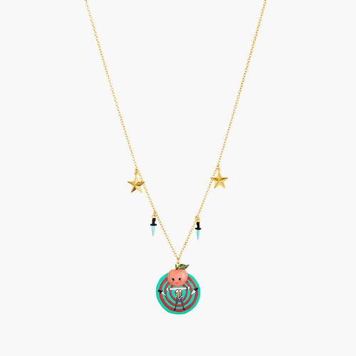 Fruit Circus Peach, Target, Knives And Stars Pendant Necklace | ANFC3031