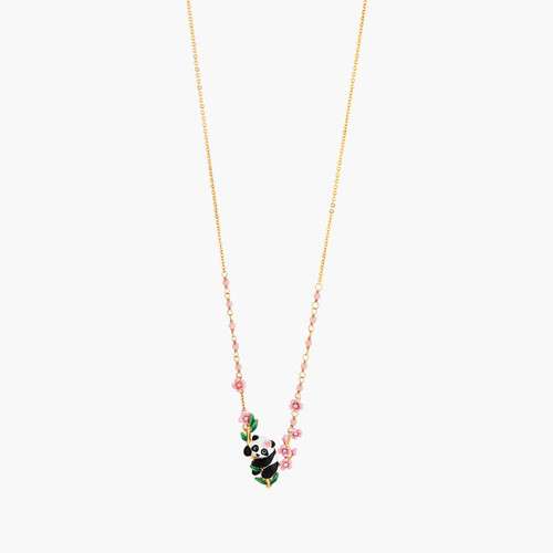 Panda And Flowers Statement Necklace | ANFL3011