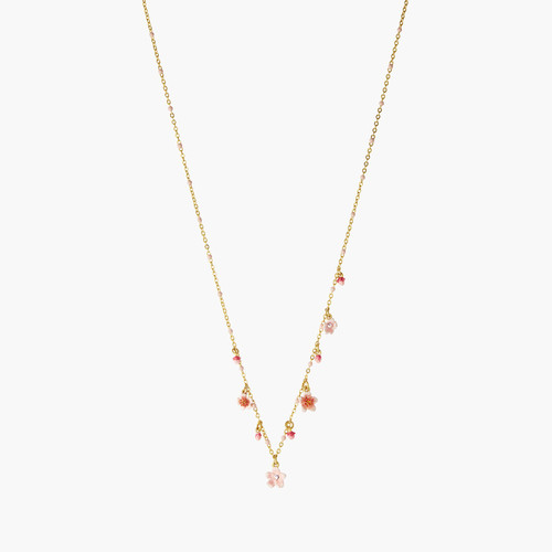Pink Japanese Cherry Blossom Thin Necklace | ANHA3041
