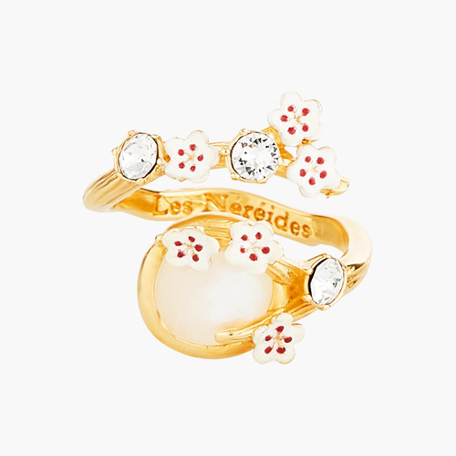 Japanese Cherry Blossom And Branches Adjustable Rings | ANHA6031