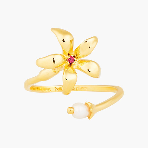 Pearl And Star Jasmine You And Me Adjustable Rings | ANJA6011