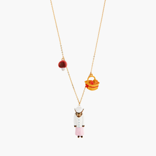 Big Bad Wolf Mushroom And Cheese Pieces Necklace | ANNA3021