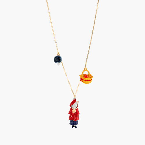 Little Mouse Little Red Riding Hood Mushroom And Cheese Pieces Necklace | ANNA3011