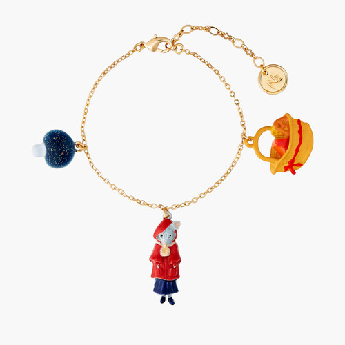 Little Mouse Little Red Riding Hood Mushroom And Cheese Pieces Bracelet | ANNA2031