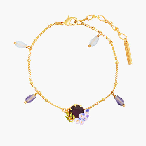 Small Wisteria And Faced Crystal Bracelet | ANOF2031