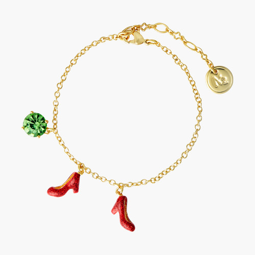 Theé Wizard Of Oz Faceted Glass And Shoes Charm Bracelet | ANOZ2051