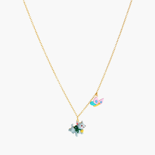 Theé Wizard Of Oz Toto Theé Dog And Butterfly Pendant Necklace | ANOZ3061