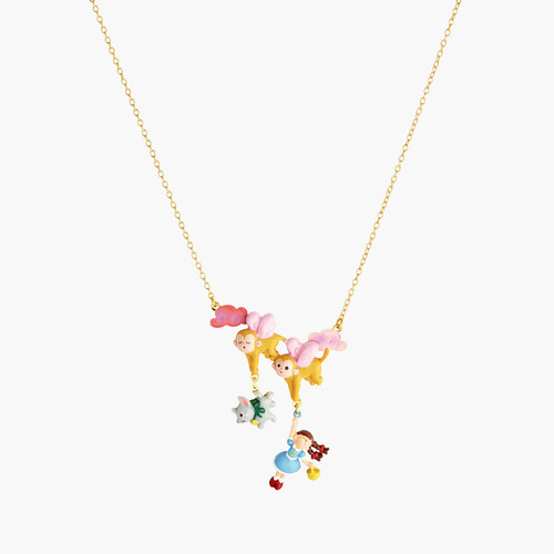 Theé Wizard Of Oz Dorothy, Toto Theé Dog And Theé Winged Monkey Statement Necklace | ANOZ3081