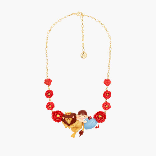 The Wizard Of Oz Dorothy, The Cowardly Lion And Poppy Statement Necklace | ANOZ3091
