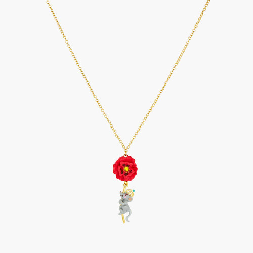 Theé Wizard Of Oz Rat And Poppy Pendant Necklace | ANOZ3101