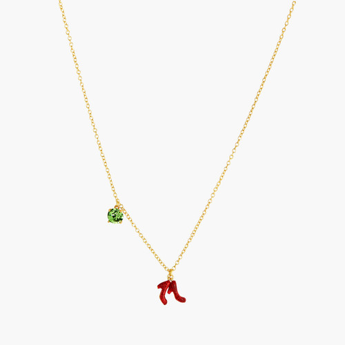 Theé Wizard Of Oz Faceted Glass And Shoes Pendant Necklace | ANOZ3121