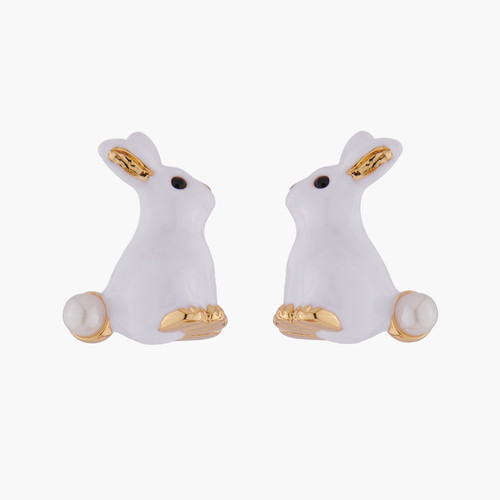 Rabbit And Pearl Earrings | ALRE101