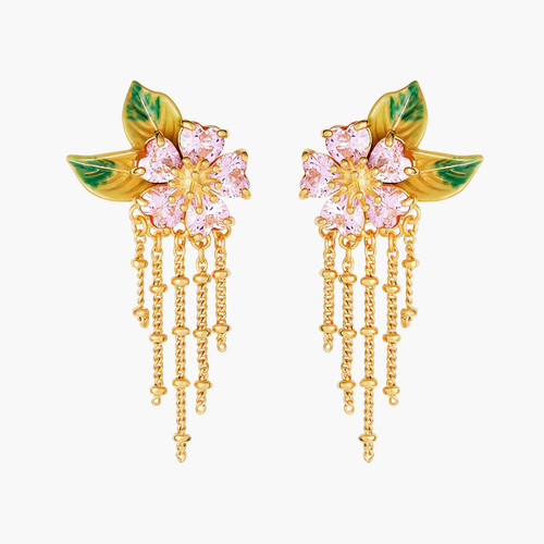 Foliage And Flower Petals Earrings | ANHA1081