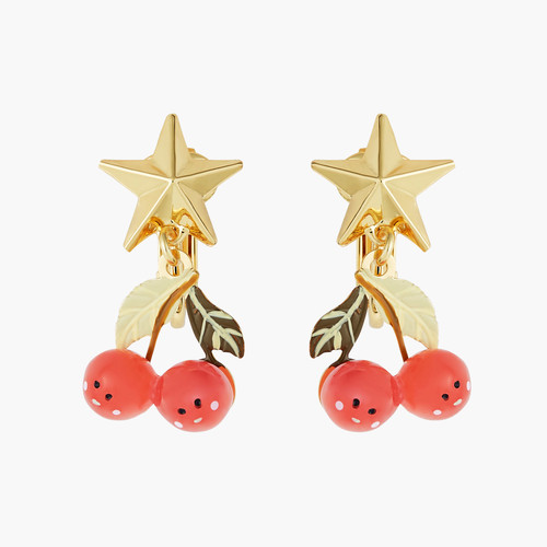Fruit Circus Cherry And Stars Earrings | ANFC1091