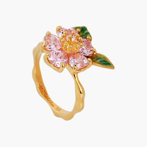 Foliage And Heart Flower Petals Multiple Size Ring | ANHA605/11