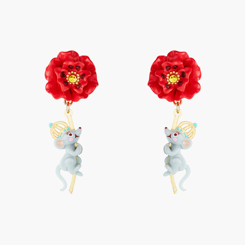 The Wizard Of Oz Poppy Stem And Rat Earrings | ANOZ109/1
