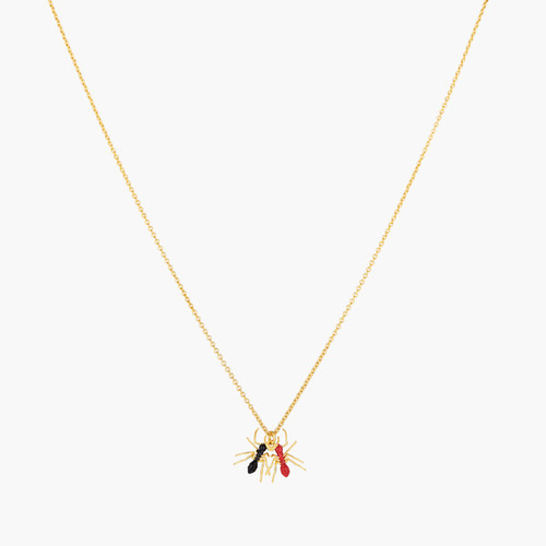 Duo of Ants pendant necklace | AOLA3021