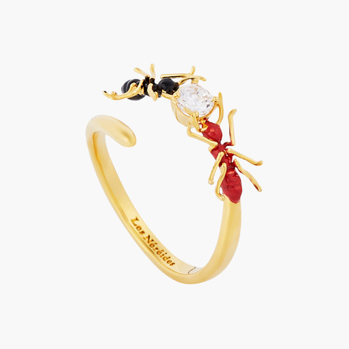 Ant and Cubic Zirconia adjustable ring | AOLA6021