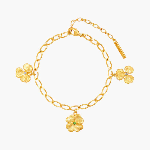 Clover and Crystal thin bracelet   AOFC2021