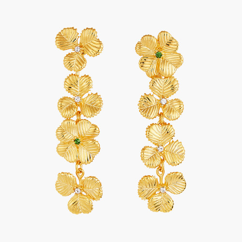 Clovers and Crystals post earrings | AOFC1011