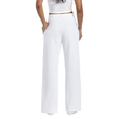 Ladies' Open Bottom Pocketed Sweatpant (White)