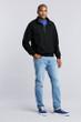 Men's 1/4 Zip Cadet Collar Sweatshirt (Black)