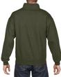 Men's 1/4 Zip Cadet Collar Sweatshirt (Moss)