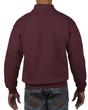 Men's 1/4 Zip Cadet Collar Sweatshirt (Maroon)