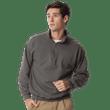 Men's 1/4 Zip Cadet Collar Sweatshirt (Tweed)