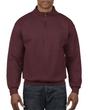 Men's 1/4 Zip Cadet Collar Sweatshirt (Russet)