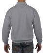 Men's 1/4 Zip Cadet Collar Sweatshirt (Sport Grey)