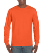 Men's Classic Long Sleeve T-Shirt (Orange)
