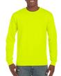 Men's Classic Long Sleeve T-Shirt (Safety Green)