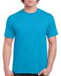 Men's Classic Short Sleeve T-Shirt (Heather Sapphire)