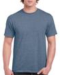 Men's Classic Short Sleeve T-Shirt (Heather Indigo)