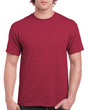 Men's Classic Short Sleeve T-Shirt (Heather Cardinal)